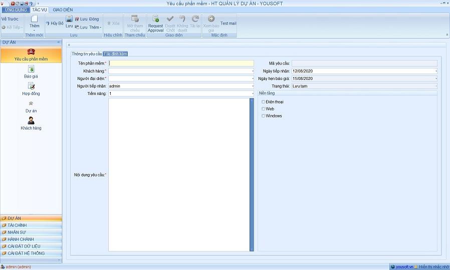 Dạng phần mềm windows form