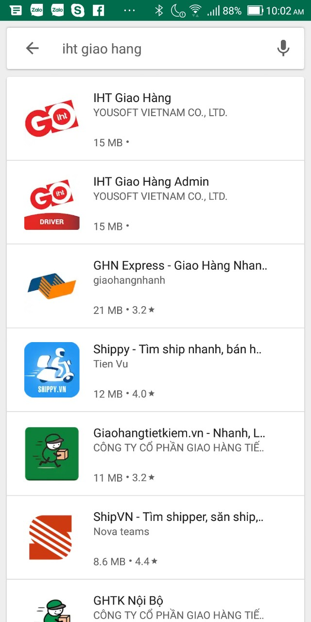 IHT Giao hàng Android